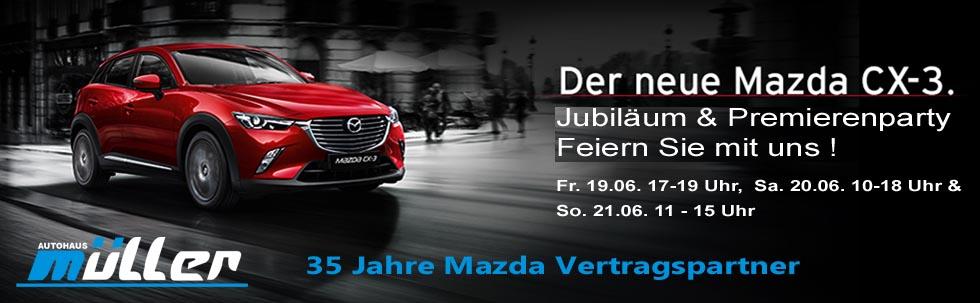35 Jahre Mazda & CX-3 Premiere