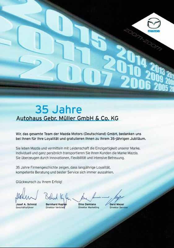 35 Jahre Mazda Partnerschaft