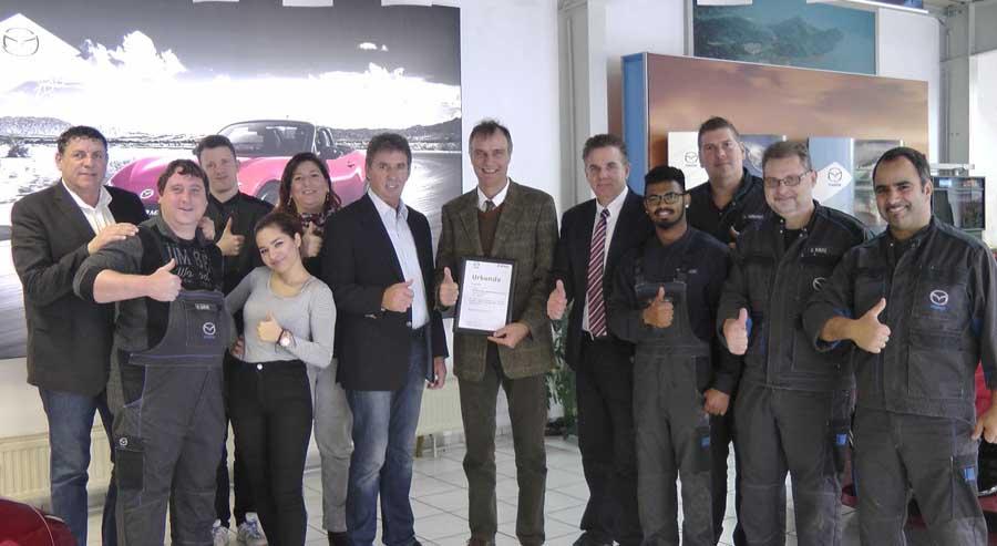 Mazda Müller Bedburg - DEKRA Auszeichnung