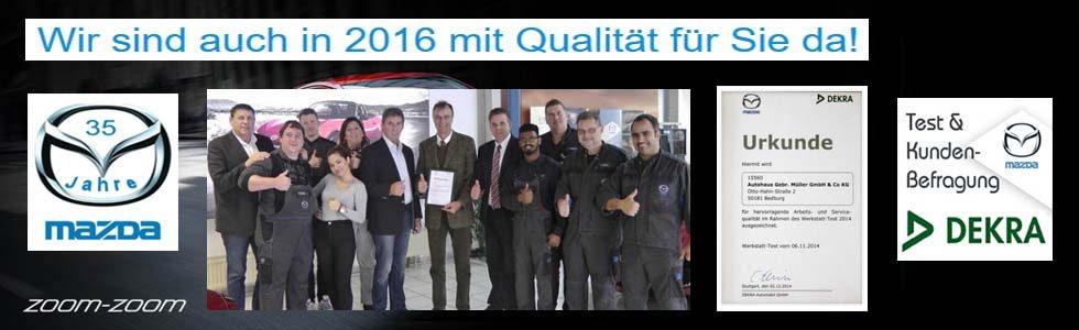 Wir sind auch in 2016 mit Qualität für Sie da!