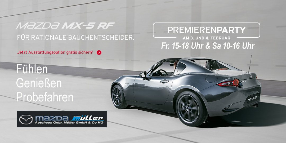 Premierenparty Mazda 3 & Mazda MX5-RF