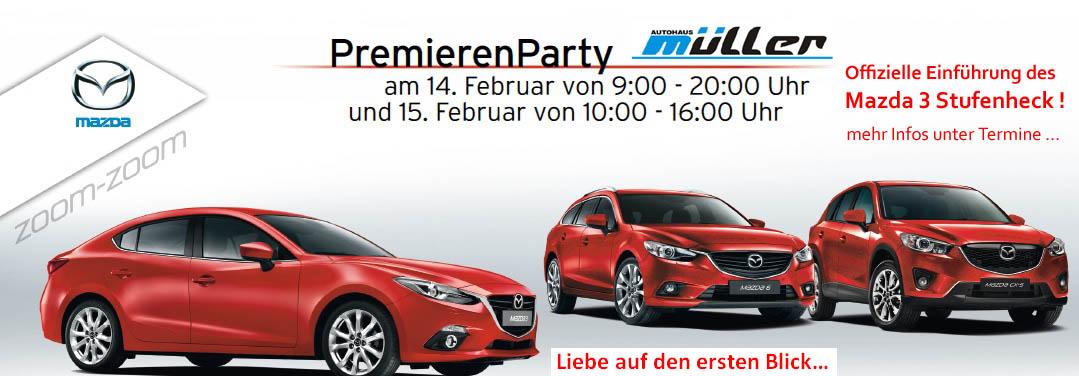 Mazda 3 Stufenheck – PremierenParty